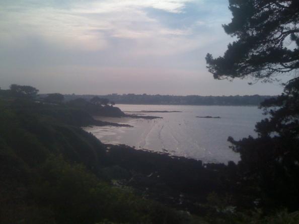 Uitzicht bij HW vanaf de camping Hortensias