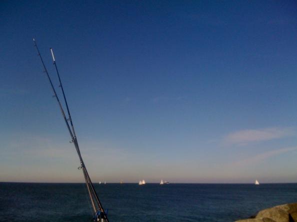 blauw met bootjes