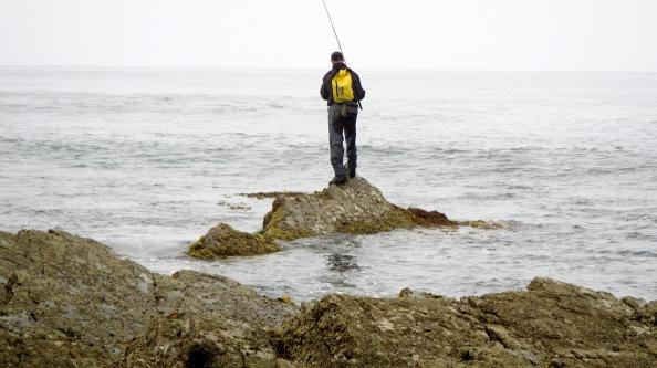 Manel op een rots