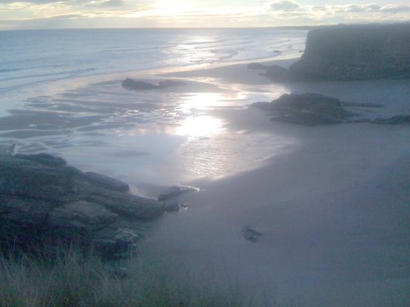 Playa de las catedrales in de ochtend