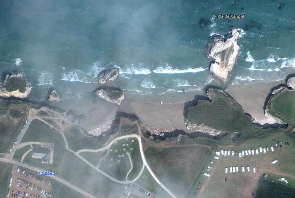 Deze playas liggen vlakbij de grens tussen Asturias en Galicië